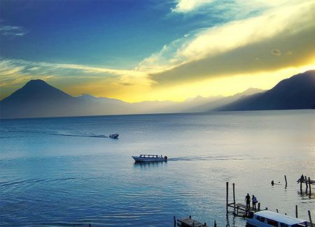 Lake Atitlan in Panajachel, Guatemala.View from my farm