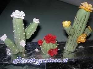 Cactus in pasta di gomma
