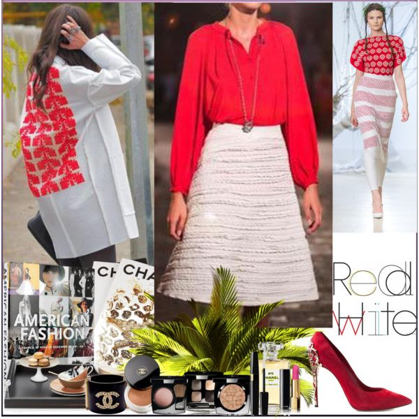 """""""Red and White"""" by adrianoianu on Polyvore"""