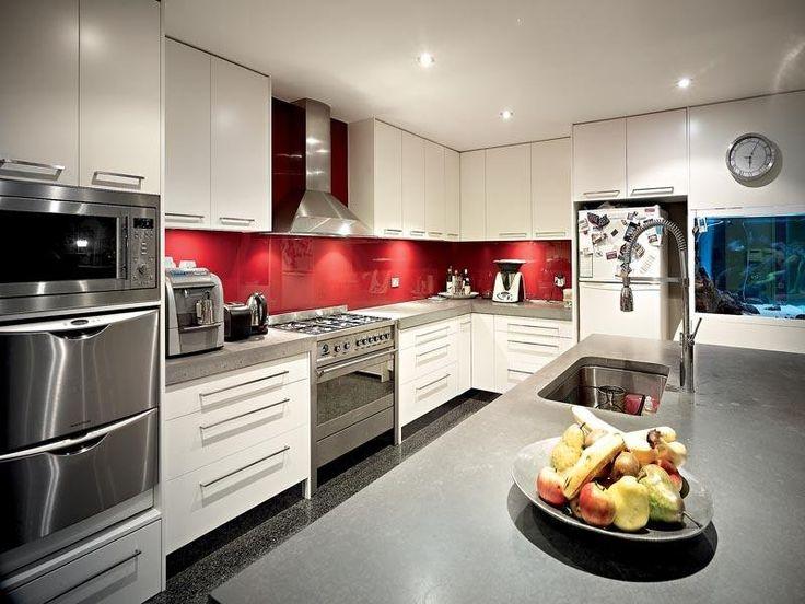 White Kitchen Red Splashback 20 best kitchen images on pinterest | kitchen ideas, modern