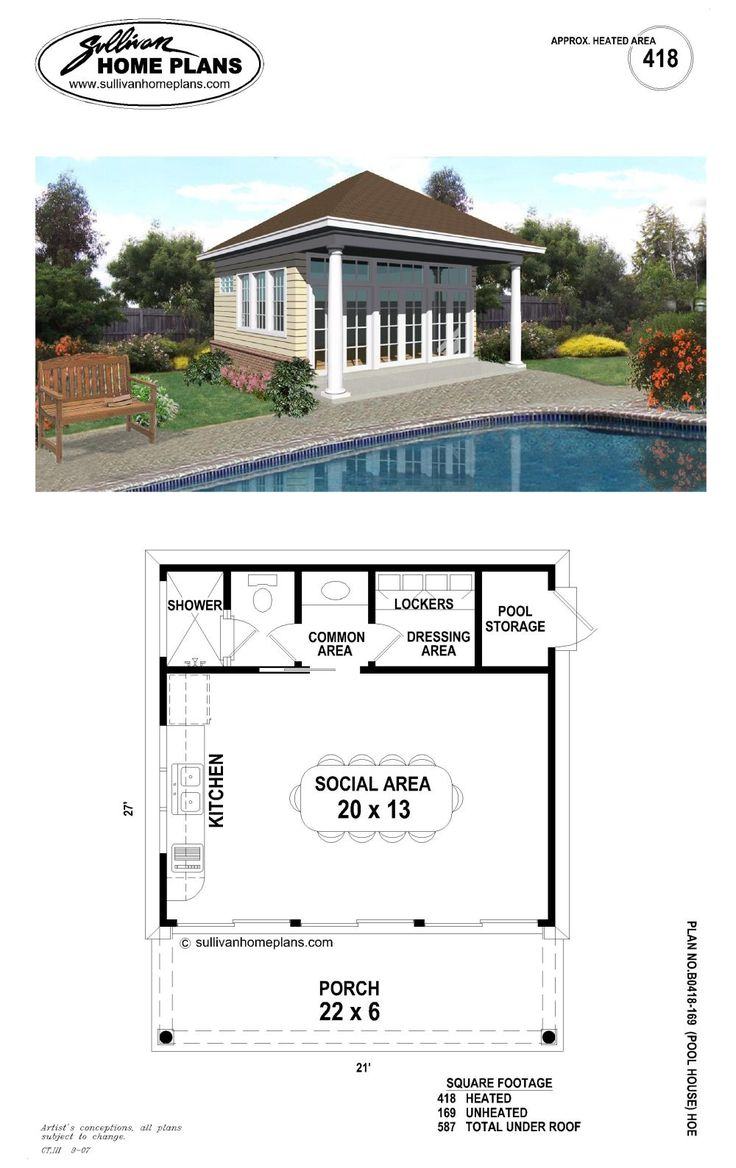 Home plans with pool home designs with pool from homeplans com - Like This Pool House Plan See More B1 0587 P 20 Iwd Lysthouse Is The Simple Way To
