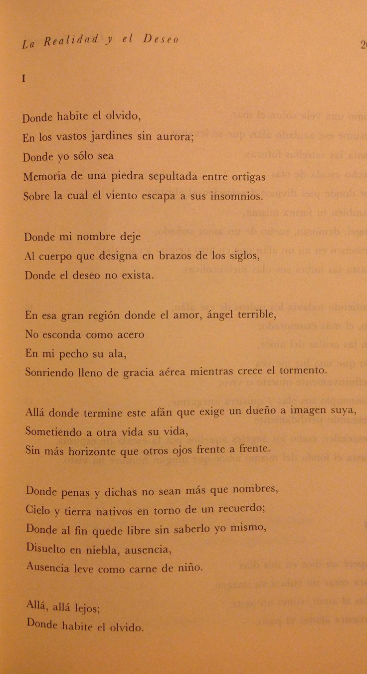 Donde habite el olvido - Luis Cernuda