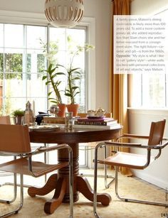 traditional pedestal table and cesca chairs - Google Search