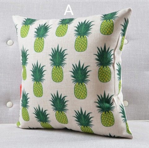 the pink pineapple throw pillows