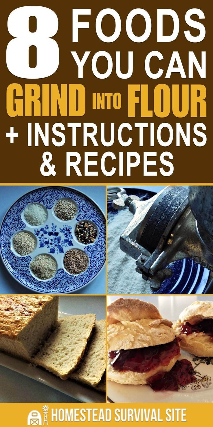 8 Foods You Can Grind Into Flour + Instructions & Recipes