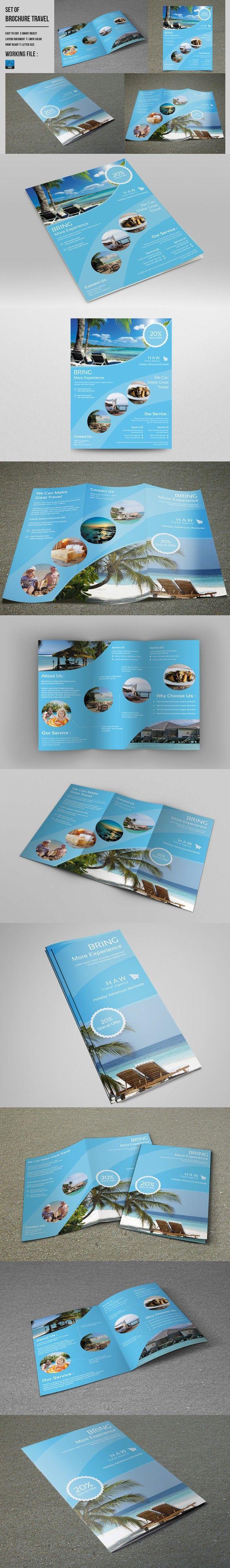 Travel Brochure Flyer Set-V487