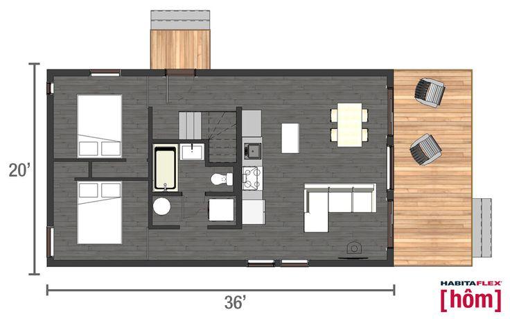Habitaflex [hôm] - Rez-de-Chaussée 2 chambres