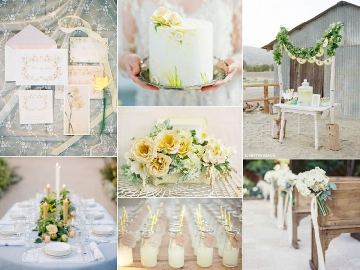 Rustic pale yellow wedding