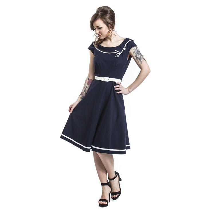 """Abito di media lunghezza """"Blue Stunning Dress"""" del brand #VoodooVixen."""