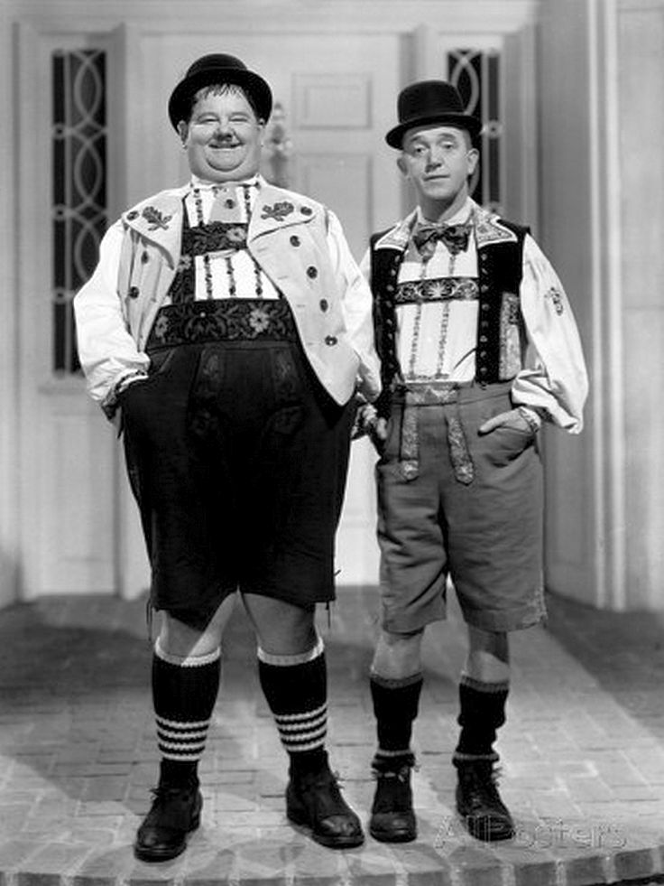 """We are good looking Stanley..""""Swiss Miss"""" 1938"""