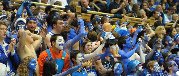 Cameron Crazies.  Notice the baby.  | Duke vs. UNC (Feb 13, 2013) | Blue Planet Shots - Duke Basketball Photography