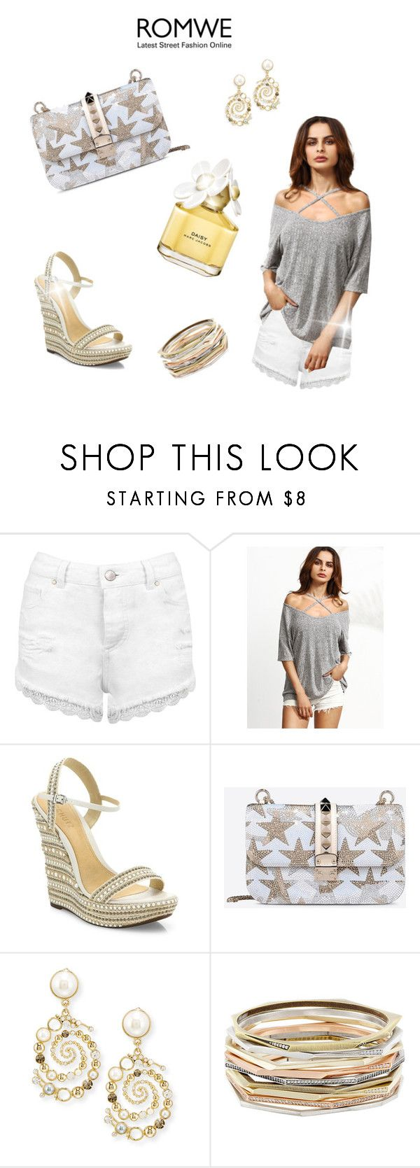 """""""Untitled #440"""" by gabbylara ❤ liked on Polyvore featuring Miss Selfridge, Schutz, Valentino, Lulu Frost, Kendra Scott and Marc Jacobs"""