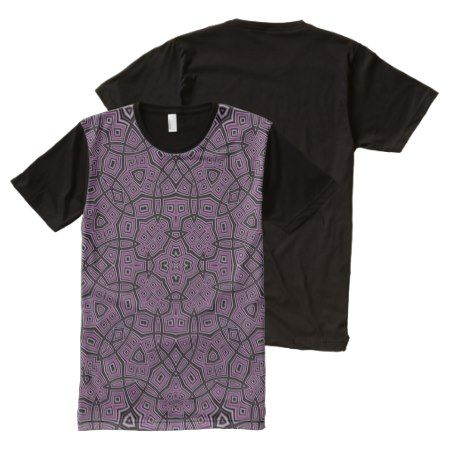 purple trendy modern pattern All-Over-Print T-Shirt - tap, personalize, buy right now!