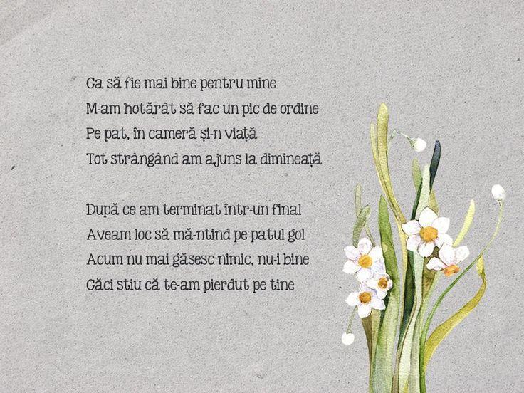 18th poem - În ordine