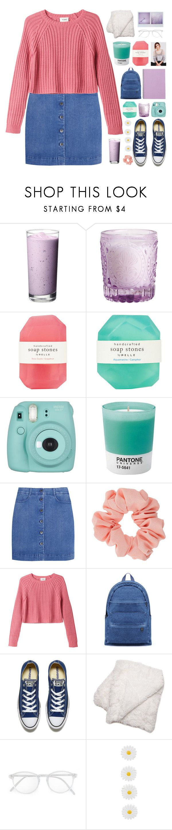 """(7)"" by via-m ❤ liked on Polyvore featuring H&M, Pelle, Fujifilm, Pantone, STELLA McCARTNEY, Miss Selfridge, Monki, Converse, RetroSuperFuture and Monsoon"