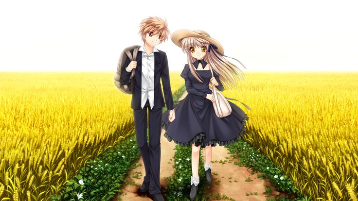 Cute Anime Girls — Akane senri and kotarou from rewrite.