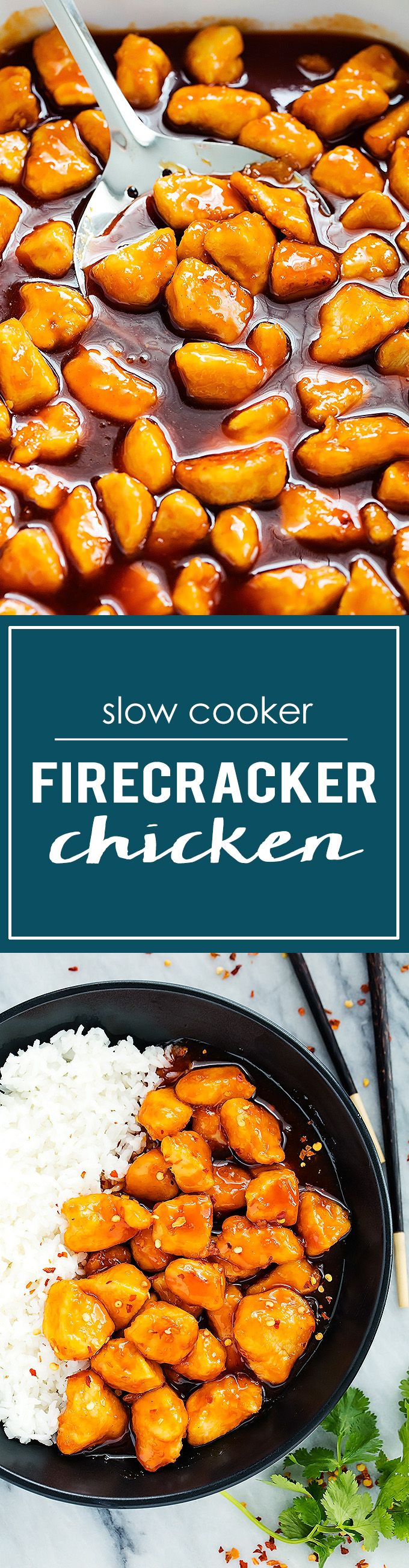 Slow Cooker Firecracker Chicken | Creme de la Crumb