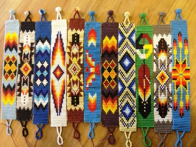 I love the 4 from the right. Its a must do! of course with some changeing. (Pattern , Free Loom Beading Patterns Native American : Free Loom Beading Patterns Native American)