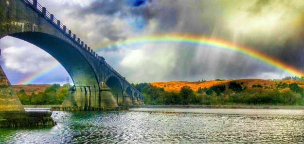 Rainbow over Fernbridge, photo by Mark Mayo, used by permission