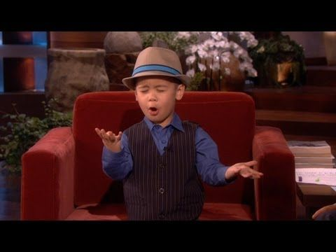 """four year old sings """"grenade"""" on ellen! Cutest thing I have ever seen"""