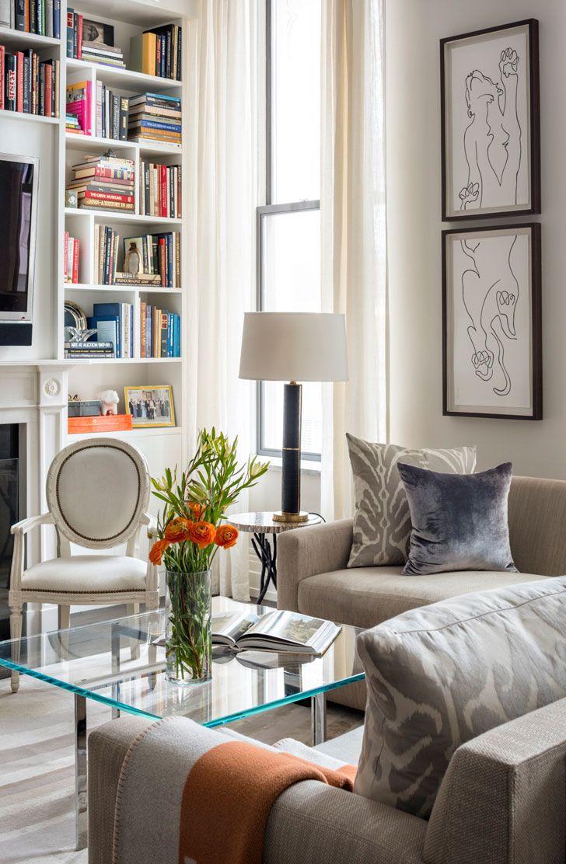 Интерьер с яркими акцентами в Нью-Йорке | Пуфик - блог о дизайне интерьера