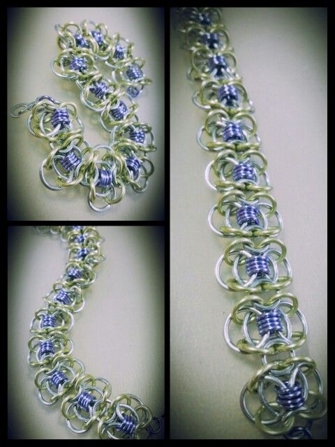 Coiled Butterfly Bracelet #chainmaille #AlloyedAdornments