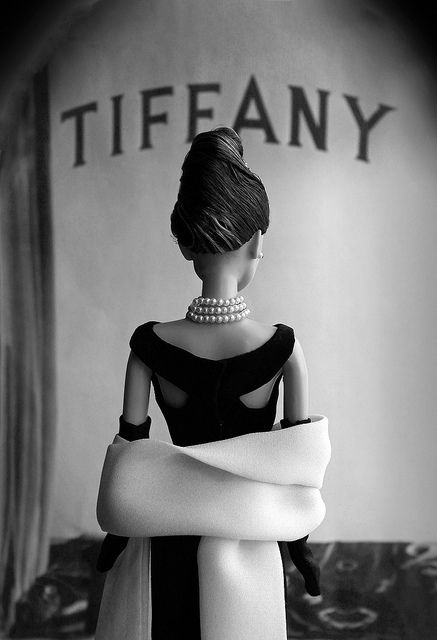 Audrey Hepburn Barbie as Holly Golightly in Breakfast at Tiffany's. I just bought one off of Ebay! ♥