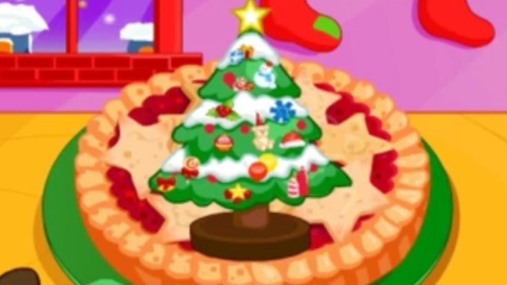 COOKING GAMES FOR GIRLS TO PLAY ONLINE Christmas Pies ✬ Cake Games For Kids