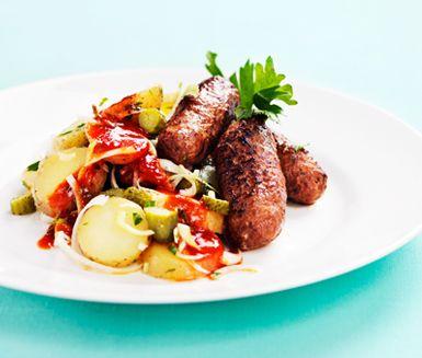 Recept: Kryddiga fajitajärpar med harissadressing