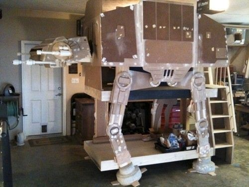 Crazy DIY Project: Three Level Imperial Walker Bunk Bed. Hey Babe, You · Star  Wars BedroomKids Bedroom IdeasKids ...