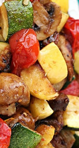 Easy Grilled Vegetables. I used different veggies (and it's definitely more than 6 servings!) and it was delicious! A big hit with my whole family