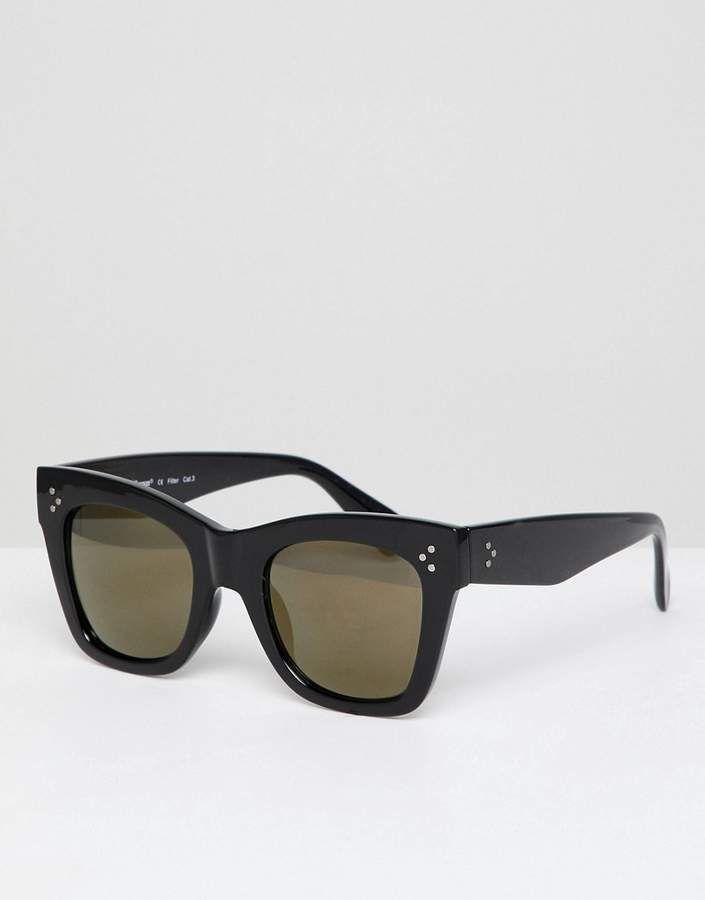 465ac6274d0 AJ Morgan square frame chunky sunglasses
