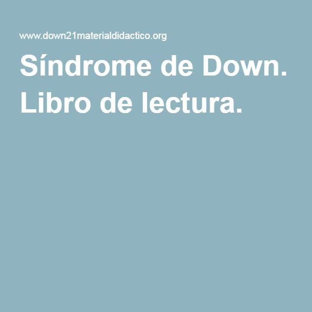 Síndrome de Down. Libro de lectura.