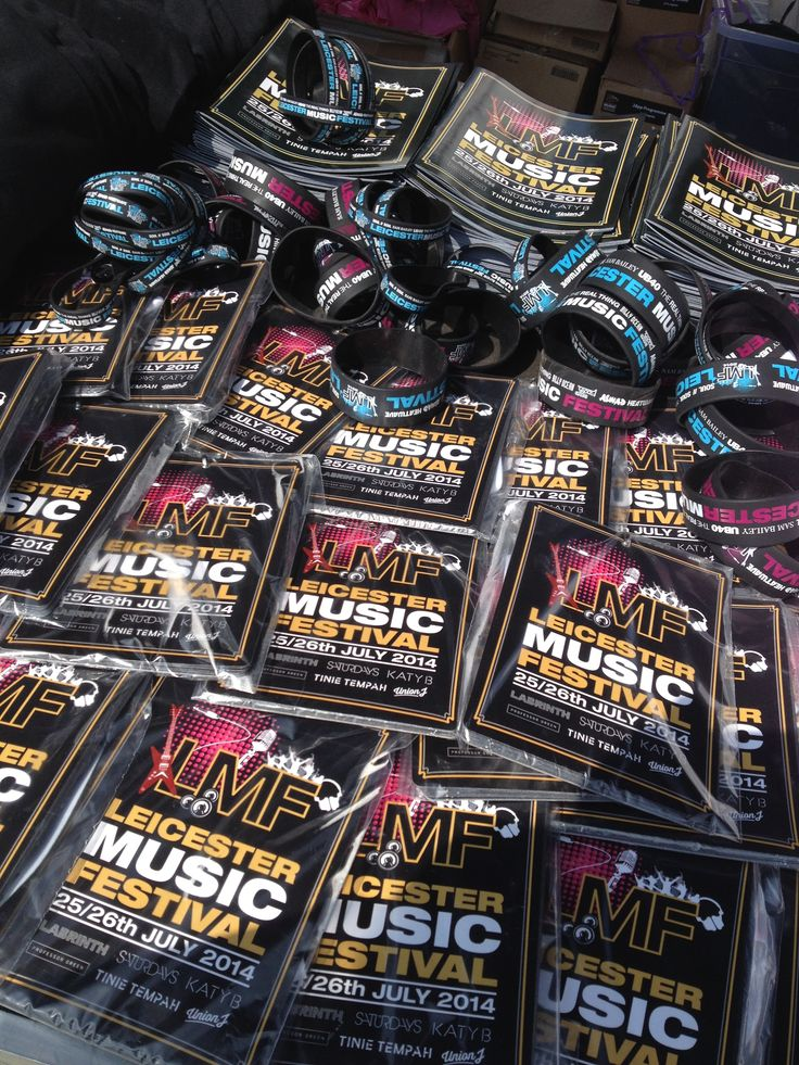 Leicester Music Festival 'goodies' Lanyards, Wristbands...& lots more..!