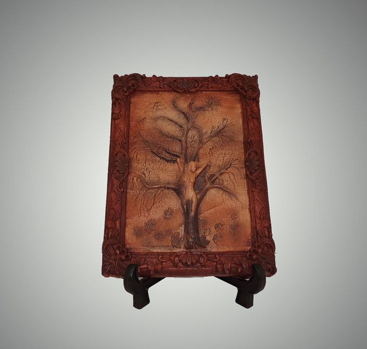 Quadro in legno faggio a bassorilievo Tableau bas relief Panneaux sculptés