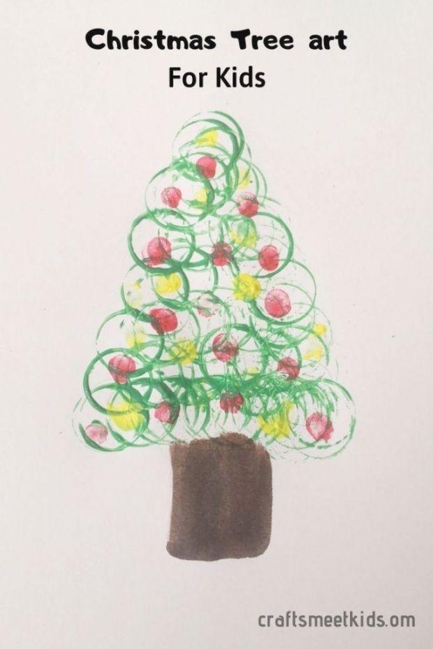Finger Print Christmas Tree Art For Kids Are You Looking For Easy Paint Christmas Art For Your Little Ones T Christmas Tree Art Kids Art Prints Art For Kids