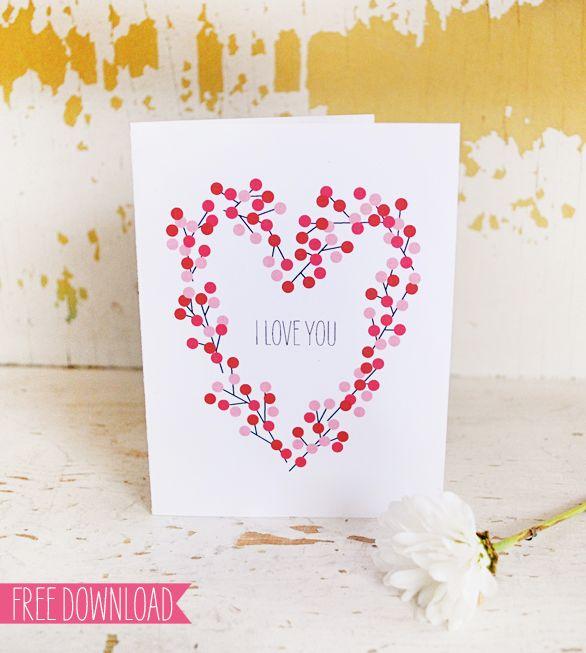Valentines Card - Free PDF Printable