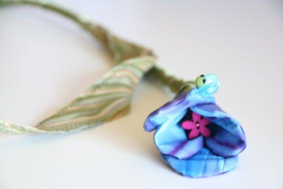 Handmade Fabric Tulip Stem, Everlasting Bouquet for Wedding, Bridal Eco Friendly