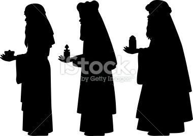 free silhoutte nativity scene patterns | Three Wise Men Silhouettes Royalty Free Stock Vector Art Illustration