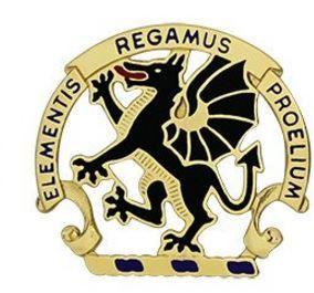 Chemical School Unit Crest (Elementis Regamus Proelium)