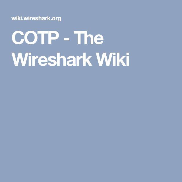 COTP - The Wireshark Wiki