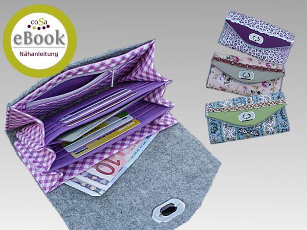 Portemonnaie – selbernähen.net | Nähen | Pinterest | Kostenlos ...