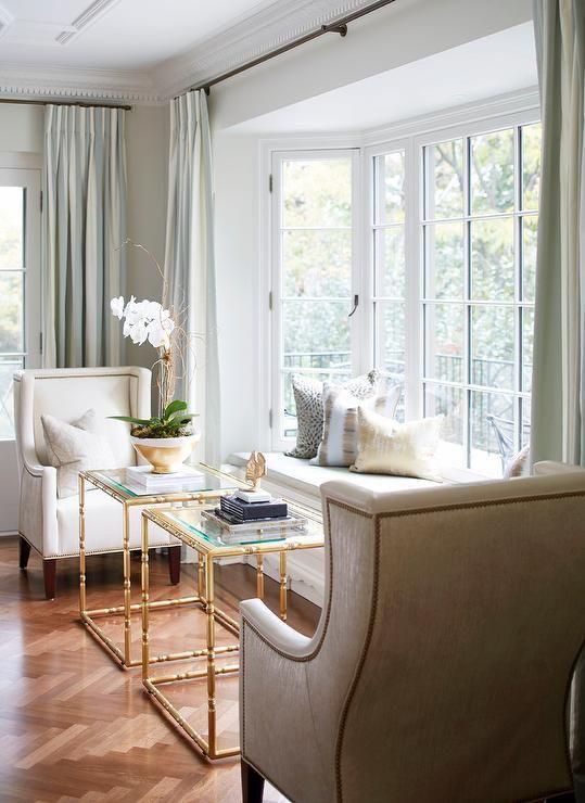 Living room window bench