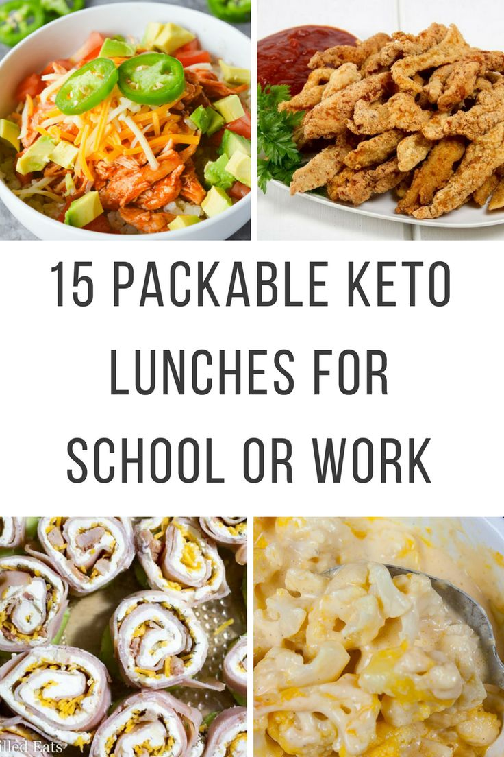 15 Packable Keto Lunches for School or Work Diet lunch