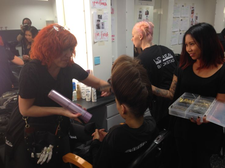 Backstage at the VAMFF Campaign Launch