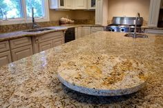 lazy susan with extra granite