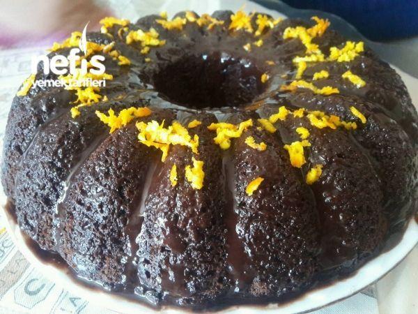 Parmak Yedirten Portakallı Islak Kek (hazırından Farksız)