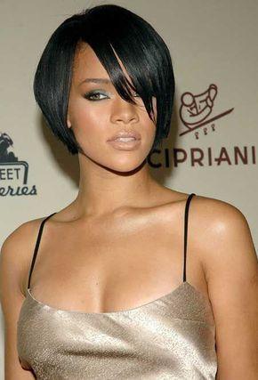 Rihanna short hairstyles tapered bob