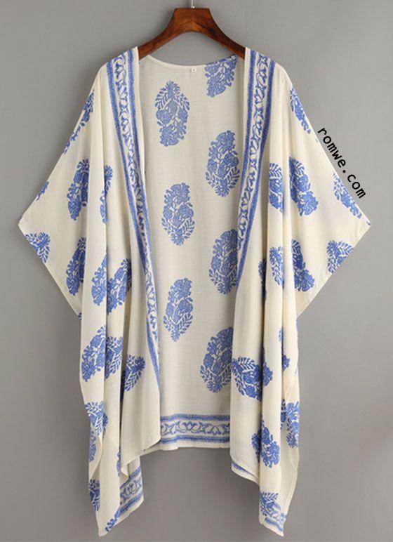 Chiffon Fringe Kimono