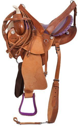 Barrel Racing Purple Ostrich Horse Western Saddle Tack 14 16 by SaddleOnline. $349.99. For Horses: Saddles & Accessories, Western Saddles. $444.99 SALE! $349.99 Save $100.00 *This is a scratch and dent model- the saddle is brand new, but has some cosmetic imperfections such as variations of color in the leather, minor scuffs and scrapes and the skirt may be curled up from sitting (this does not affect the function of the saddle and will come down if sat on a stand/oi...